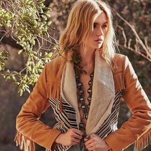 ♥️ Chaser ♥️ Whiskey Leather & Tweed Jacket